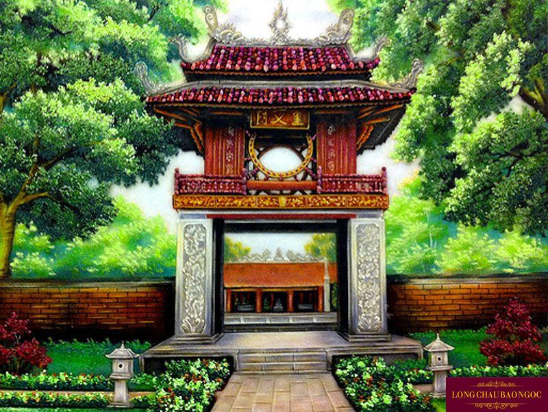 Tranh đá quý Văn Miếu Quốc Tử Giám Giá Tốt Nhất Tại Hà Nội